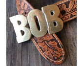 Bob Belt Buckle - Vintage Brass Belt Buckle