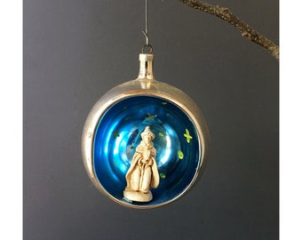 1950s Mercury Ornament - Wise Man - Christmas Tree Ornament - Made in Austria