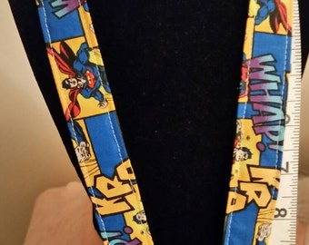 Comic Book Style Superman Lanyard