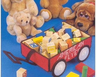 Toy Wagon ~ plastic canvas pattern  ~  Annie's International pattern