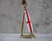 Razor Handle with Stand (Gold Titanium and Acrylic) English Flag