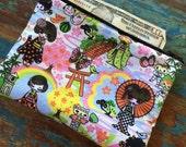 medium zipper pouch geisha girl