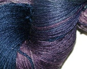 MIDNIGHT EXPRESS in Hand Dyed Poet Seat Fingering Weight Superwash Merino and Silk Yarn