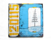 """Mixed Media Art on Wood: """"Change"""" by Erin Lang Norris"""
