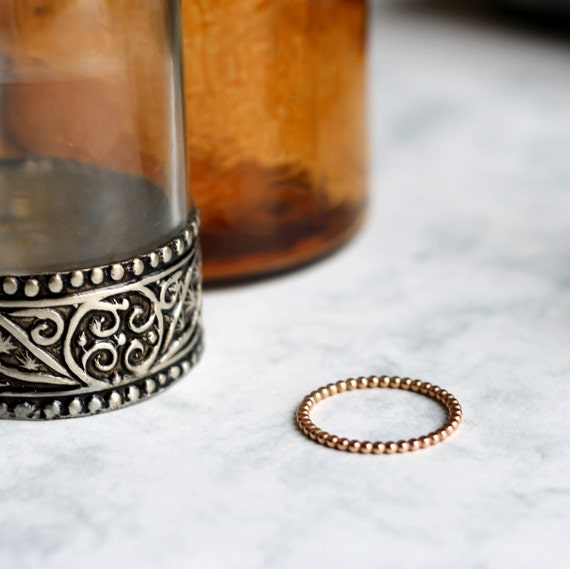 Dotted Stacking or Midi Ring - Rose Gold Fill