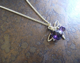 Heart Dragonfly Gold Plated Chain necklace