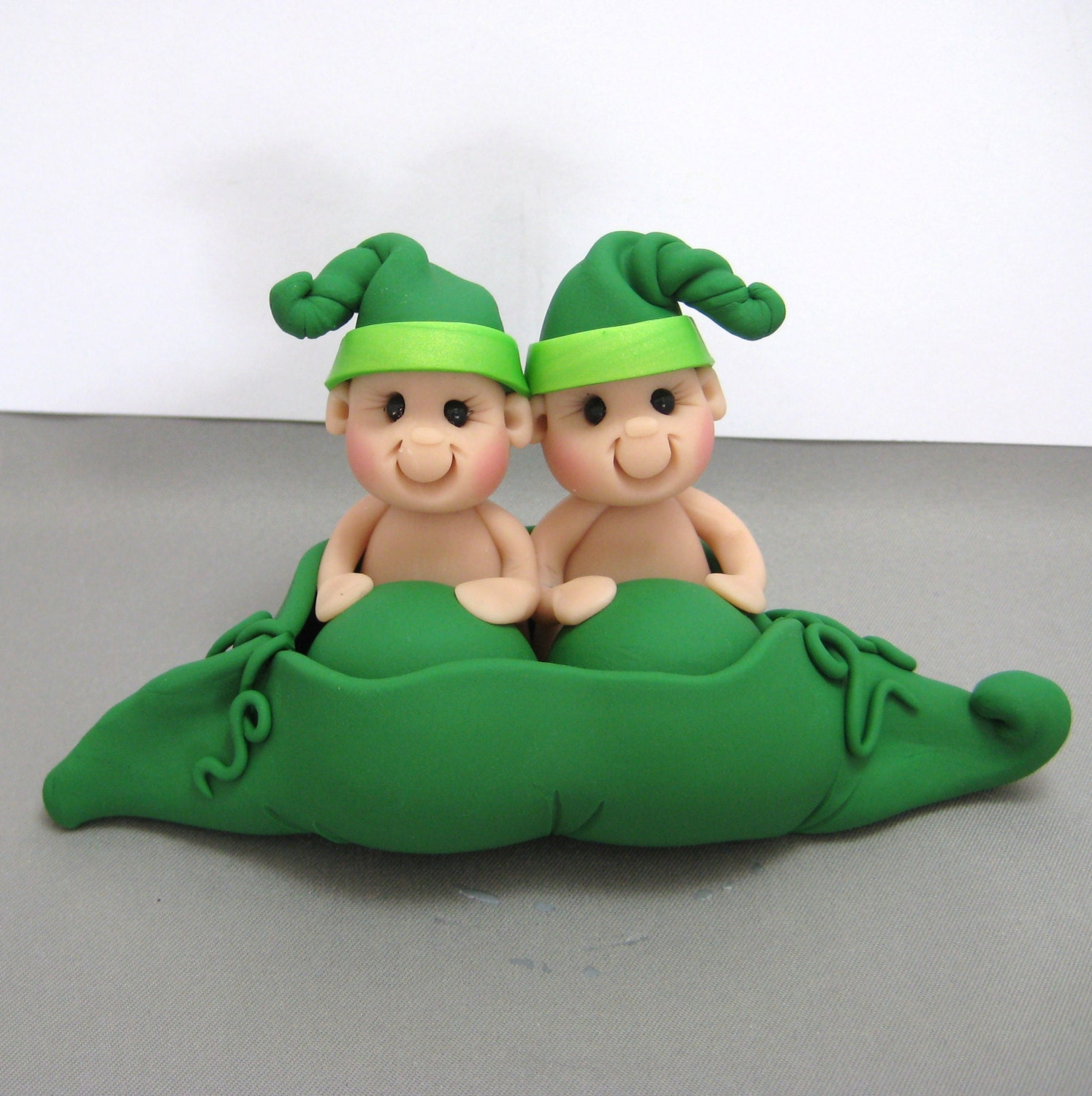 Two Peas in a Pod Baby Shower Cake Topper Made to Order