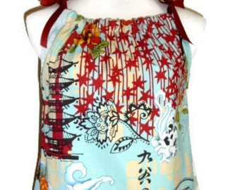 Will fit size M - READY to MAIL - Ladies Pillowcase Dress - Alexander Henry - Koto - by Boutique Mia
