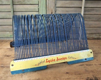 Fabulous old 45 record holder rack Red Junior Lyric Record Holder Retro Record Rack