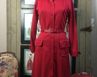 Sale 1960s dress coat 60s mod dress size medium Vintage office dress vintage dress
