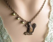 SALE 20% off Squirrel Necklace, Woodland Jewelry, Gifts for Mom, Squirrel Lover, Acorn Necklace, Gift for Her Jewelry, Gift for Aunt