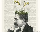pothead, dandelion potted plant print