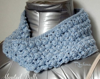 Slanted Puffs Cowl ~ Crochet Pattern
