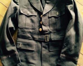 Amazing mens Vintage 1940's  Army officers WW2 jacket. Size Small mens