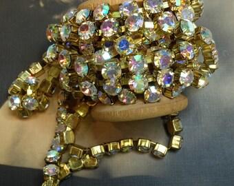 Rhinestone Chain Single Strand Round Crystal 1 Yd 6mm Stone