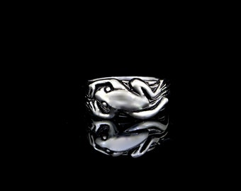 Frog Ring, sterling silver