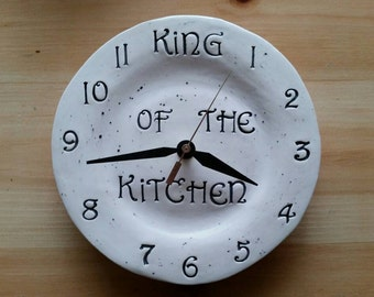 Father S Day Gift Clock King Of The Kitchen Ceramic 8 Home Decor Hand Made Newest
