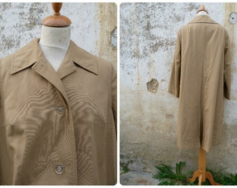 Vintage 1970/70s French beige trench coat size S/M