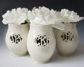Small Cursive Monogram Vase - Made to Order for a couple or individual