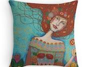 Garden of Life: Original Art Cushion