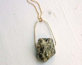 Iron Pyrite and 14 GF Swing Pendant