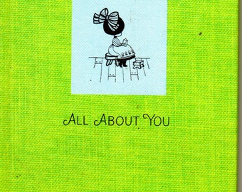 All About You 1967 Little Hallmark Book by Gail Mahan Illustrated by Merrily Mihel Tiny Hallmarks Editons Book Friendship Gift