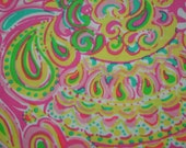 """Lilly Pulitzer fabric """"DOUBLE TROUBLE""""  100% cotton poplin"""