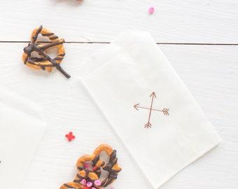 crossed arrows glassine treat bags