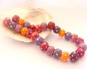 26 Handmade Lampwork Beads