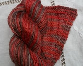 Hand Dyed Worsted weight Silk Yarn - Chocolate Chilli