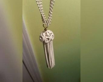 Elegant Monet Vintage Fringe Necklace