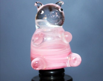 Pink pig wine stopper