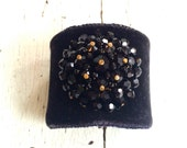 Black Silk Velvet Adjustable Cuff