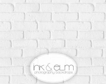 """Vinyl Product Photography Backdrop 3ft x 2ft, Fresh White Brick Wall Backdrop, Food and Cake Photography Background """"Fresh White Brick"""""""