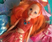 Pretty Fairy Doll and Extra Clothes..Sweet for Blythe Dolls...Valentine's Day...ooak!