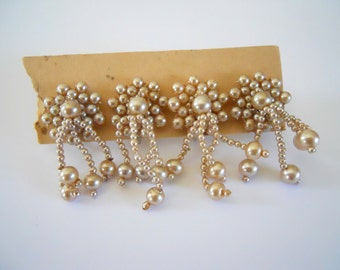 2 Pair Vintage Pearl Earrings
