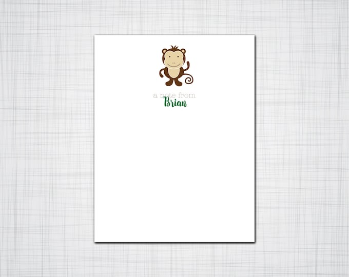 Cute Animals Note Cards, Set of ten personalized Note Cards, Cards for Children, Set of Fifty Cards for Children, Thank You Cards for Kids