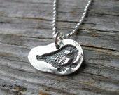 For Debbie -Baby Bird Necklace-Silver Bird Necklace-Silver Necklace- Fine Silver Necklace-Baby Chick Necklace-Bird Necklace-Bird Jewelry