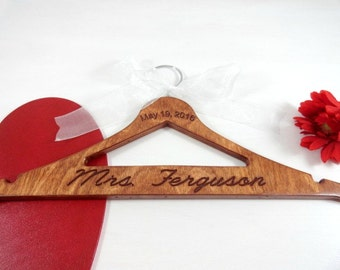 Handmade Wedding Photo Prop - Name Hangers - No Wire Hangers - Custom Hanger Gifts - Engagement - Custom - Rustic Wedding - Photo Props