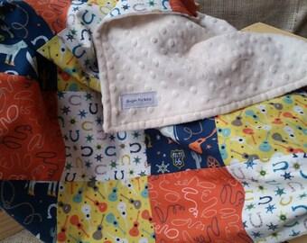 Baby Patchwork Blanket / Cowboy Baby Blanket / Country Baby Blanket / Baby Blankets