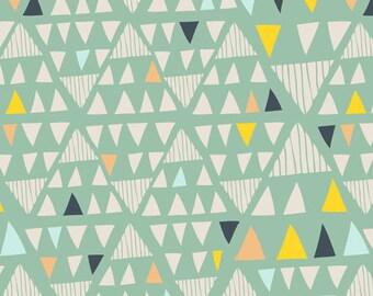 Mojave Aloe - Morning Walk - Art Gallery Fabrics - Leah Duncan - MWK-2116 - Triangles Native American Southwest Mint Green