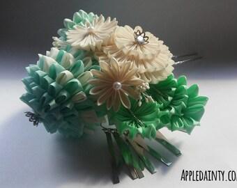Aqua & Mint Green with Bira-Bira Hair Fork