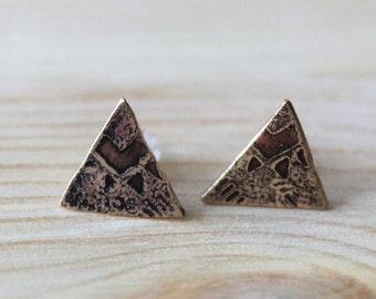 Aztec Pyramid Stud Earrings