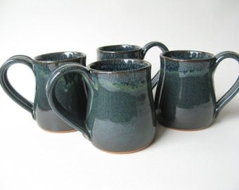 Pottery Mugs 12 oz. Set of 4