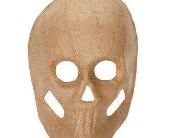 Halloween Paper Mache Skull sugar skulls unfinished blank 8 1/2 inches day of the dead DIY Halloween decoration, crafts supplies calavera