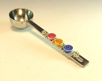 Coffee Scoop/Hand Beaded/Coffee Measure/One Tablespoon Measure