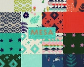 Complete Mesa by Alexia Abegg - Fall 2014 Cotton and Steel Fabric  - Charm Square Pack of 17