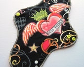 HEAVY Mama Cloth Pad .. Great for Postpartum .. 12 inch Best Friends Heart FREE Shipping