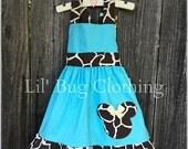 Minnie Mouse Animal Kingdom Dress, Minnie Mouse Toddler Girl Dress, Minnie Mouse Giraffe Dress, Custom Boutique