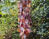SOLD to Susan -- Sorbet AND Coriandoli Glass Wind Chime, Suncatcher, Gift For Her, Anniversary, Birthday, Wedding, Housewarming,
